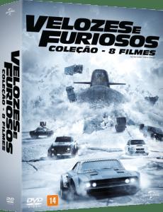 DVD Coleção Velozes e Furiosos - 8 Discos