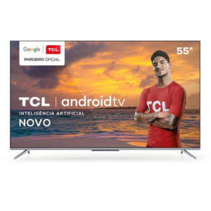 Smart TV TCL LED Ultra HD 4K 55' Android TV com Google Assistant, Borda Ultrafina - 55P715