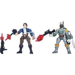 Boneco Star Wars Hero Mashers Battle Pack EP VII Han Solo vs Boba Fett - Hasbro