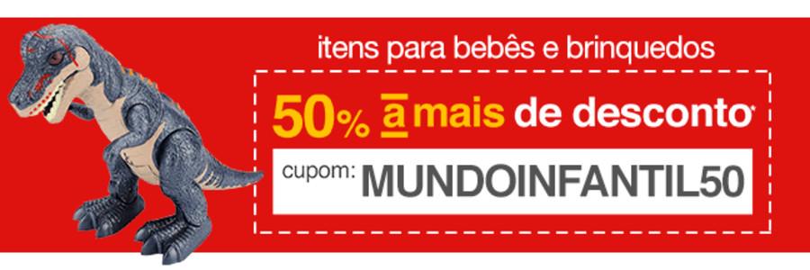 Promoção Americanas - Seleção de brinquedos e itens de bebê com 50% OFF no cupom!!!