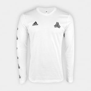 Oferta ➤ Camiseta Adidas Manga Longa Tango Gráfica Masculina – Branco   . Veja essa promoção