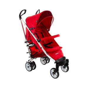 Carrinho de Bebê Cosco 6 Rodas 4 Posições Suporta Crianças de Até 15Kg Deluxe Plus IMP01349 Vermelho