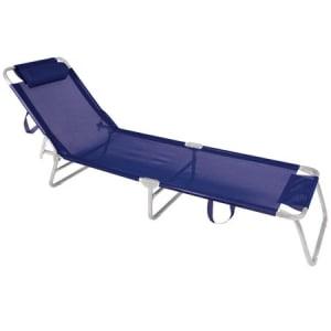 Cadeira Espreguiçadeira de Alumínio Mor Azul Marinho - 2701