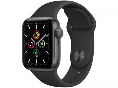 Apple Watch SE 40mm Cinza-Espacial Gps + Cellular - Pulseira Esportiva Preta