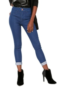 Calça Jeans Biotipo Skinny Melissa Azul 68bf85f69ea