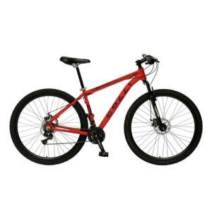 Bicicleta Colli Aro 29 Aero com Quadro em Alumínio, Suspensão Dianteira, Freio à Disco e Kit Shimano Vermelha