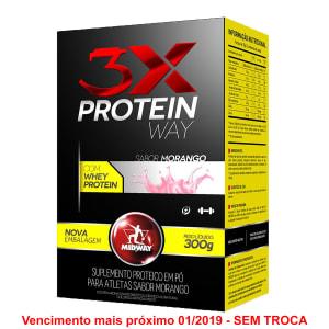 Way Protein 3x: Blend de proteínas concentradas soja, leite e albumina - Midway 300g