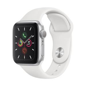 Apple Watch Series 5 (GPS) - 40mm - Caixa Prateada de Alumínio Com Pulseira Esportiva