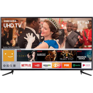 "Smart TV LED 58"" Samsung 58mu6120 Ultra HD 4K com Conversor Digital Integrado 3 HDMI 2 USB Wi-Fi  Smart Tizen, Espelhamento de Tela (Cód. 132710709)"