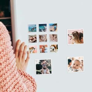 9 Imãs Quadrados Personalizados Qualquer Foto