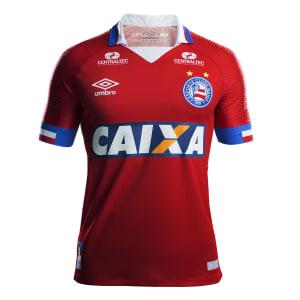 Camisa Bahia III 17/18 s/n° - Torcedor Umbro Masculina - Vermelho e Azul