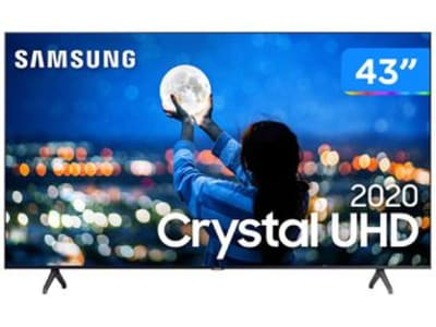 "Smart TV Crystal UHD 4K LED 43"" Samsung - UN43TU7000GXZD Wi-Fi Bluetooth HDR 2 HDMI 1 USB - Magazine Ofertaesperta"