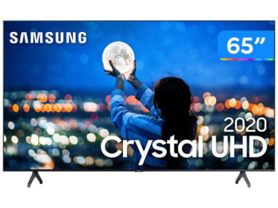 "Smart TV Crystal UHD 4K LED 65"" Samsung - 65TU7000 Wi-Fi Bluetooth 2 HDMI 1 USB - Magazine Ofertaesperta"
