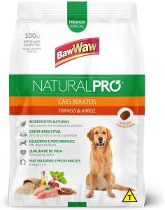 [Compra na Recorrência] Ração Baw Waw Natural Pro para cães adultos sabor Frango e Arroz - 15kg