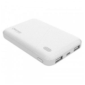 Carregador Portátil Geonav Essential 5000mAh 2 USB Branco ES5KWT