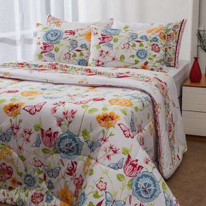 Enxoval Cama King Amelie 7 Peças - Casa & Conforto