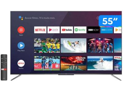 """Confira ➤ Smart TV 4K QLED 55"""" TCL C715 Android – Wi-Fi Bluetooth HDR 3 HDMI 2 USB – Magazine ❤️ Preço em Promoção ou Cupom Promocional de Desconto da Oferta Pode Expirar No Site Oficial ⭐ Comprar Barato é Aqui!"""