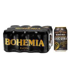 Cerveja Bohemia Escura Lata 350ml Caixa com 12 unidades