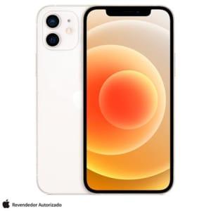 """iPhone 12 128GB Branco, com Tela de 6,1"""", 5G e Câmera Dupla de 12 MP - MGJC3BR/A"""