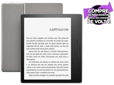 "Kindle Oasis Amazon Tela 7"" 8GB - Wi-Fi Luz Embutida à Prova DÁgua Preto"