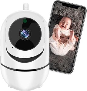 Câmera de Segurança WiFi XFTOPSE Monitoramento 360º 1080P HD Camera IP Sem Fio com Áudio Bidirecional, Detecção de Movimento, IR Visão Noturna, Baba E