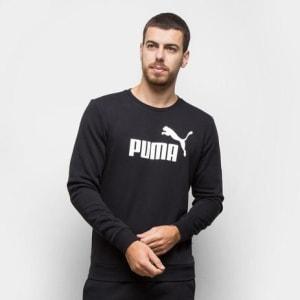 [2 CORES] Blusa Puma Ess Logo Crew Sweat Tr Big Logo