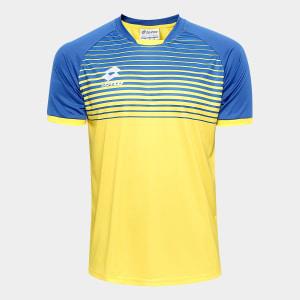 Camisa Lotto Aspen Masculina - Preto e Laranja
