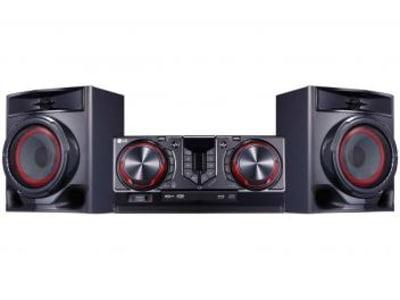 Mini System LG Bluetooh USB MP3 CD Player 440W - Karaokê CJ44 X Boom - Magazine Ofertaesperta