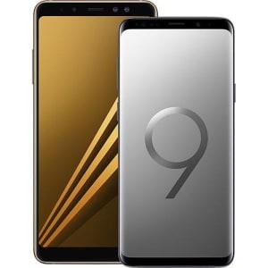 1eaea2153 Smartphone Samsung Galaxy S9+ Cinza + Smartphone Samsung Galaxy A8+ Dourado