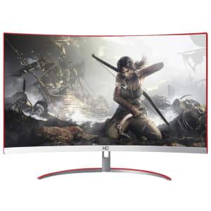 Monitor Gamer HQ LED 24´ Curvo, Full HD, HDMI/DisplayPort, 144Hz, 5ms, Branco/Vermelho - 24GHQ-GAMER