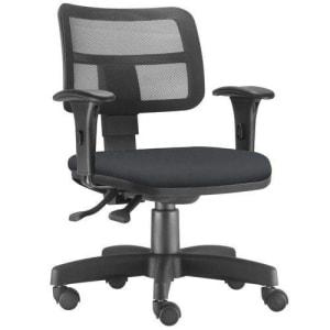 Cadeira Giratória Zip Executiva Ergonômica Escritório Suede Preto- Lymdecor