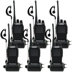 Kit 6 Walkie-talkie Baofeng Radio Comunicador Alto Alcance