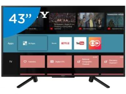 """Smart TV LED 43"""" Sony Full HD KDL-43W665F - Conversor Digital Wi-Fi 2 HDMI 2 USB"""