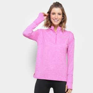 Jaqueta Nike Element Top HZ Feminina - Pink e Prata