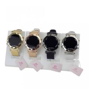 Kit 4 Relógios Feminino Led Dourado - Orizom - Magazine Ofertaesperta