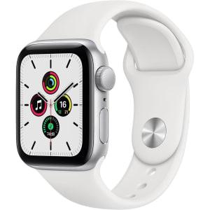 Apple Watch Se (GPS) 40mm Caixa Prateada de Alumínio e Pulseira Esportiva Branco