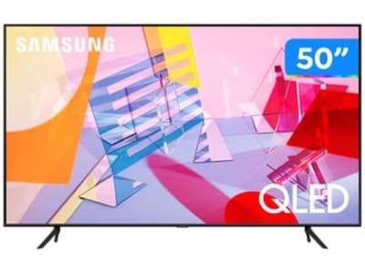 """Smart TV 4K QLED 50"""" Samsung QN50Q60TAGXZD - Wi-Fi Bluetooth HDR 3 HDMI 2 USB - Magazine Ofertaesperta"""