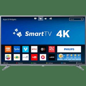 "Smart TV LED 50"" Philips 50PUG6513/78 Ultra HD 4k com Conversor Digital 3 HDMI 2 USB Wi-Fi 60hz - Prata"