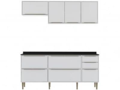 [3 cores] Cozinha Compacta Multimóveis New Paris 2836.893 - com Balcão 8 Portas 3 Gavetas
