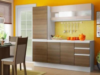 Cozinha Compacta Madesa Smart G20075097G - com Balcão 8 Portas 2 Gavetas 100 MDF