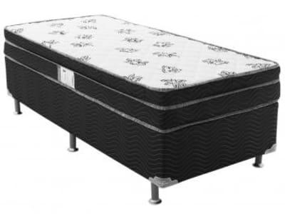 Cama Box Solteiro (Box + Colchão) Ortobom Mola - 53cm de Altura Physical Mônaco