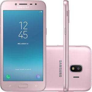 "Smartphone Samsung Galaxy J2 Pro Dual Chip Android 7.1 Tela 5"" Quad-Core 1.4GHz 16GB 4G Câmera 8MP - Rosa"