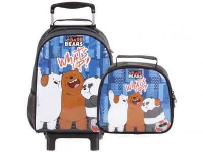 2ea865e72 Mochila Infantil com Rodinhas DMW - We Bare Bears What?s up! + ...