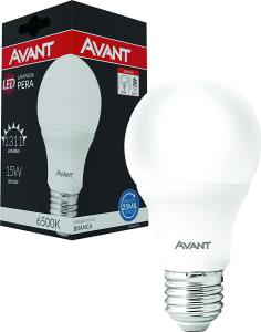 Kit com 3 Lâmpadas LED Bulbo 15w Bivolt 6500k Branco Frio Avant - 335441473