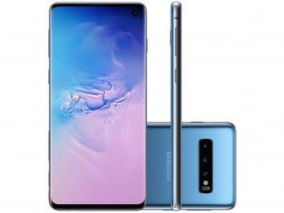 "Smartphone Samsung Galaxy S10 128GB Azul 4G - 8GB RAM 6,1"" Câm. Tripla + Câm. Selfie 10MP - Magazine Ofertaesperta"