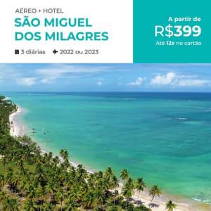 Pacote de Viagem São Miguel dos Milagres - 2022 e 2023 - Aéreo + Hospedagem com Café da Manhã