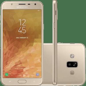 """Smartphone Samsung Galaxy J7 Duo Dual Chip Android 8.0 Tela 5.5"""" Octa-Core 1.6GHz 32GB 4G Câmera 13 + 5MP (Dual Traseira) - Dourado"""