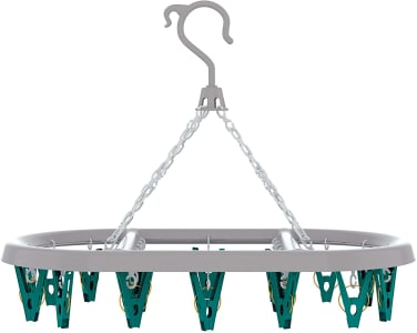 Mini Varal Oval com 24 Prendedores Flash Limp Verde
