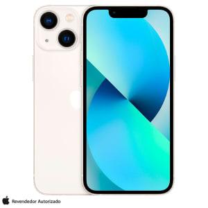 """iPhone 13 mini 128GB Branco, com Tela de 5,4"""", 5G e Câmera Dupla de 12MP - MLK13BZ/A"""