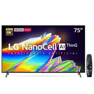 "Smart TV LED 75"" UHD 8K LG 75NANO95 NanoCell IPS 2020"